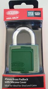 45mm Lockwood Silicone Covered Brass Padlock