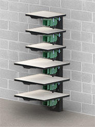 Vastex VP-Rack Wall Mounted Pallet Rack (add pallet mounts separately)