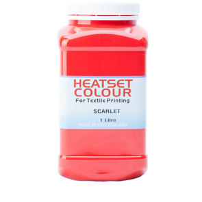 Heatset Water Based Textile Ink Scarlet