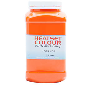 Heatset Water Based Textile Ink Orange