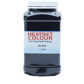 Heatset Water Based Textile Ink Black
