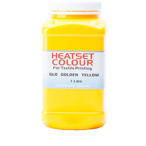 Heatset Water Based Textile Ink Glo Golden Yellow