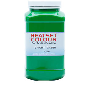 Heatset Water Based Textile Ink Bright Green