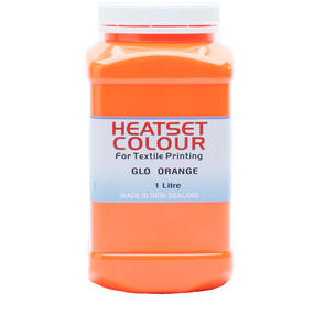 Heatset Water Based Textile Ink Glo Orange