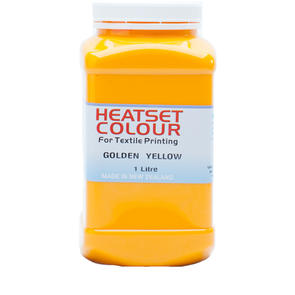 Heatset Water Based Textile Ink Golden Yellow
