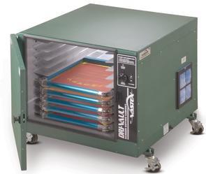 Vastex 10 screen capacity Dri-Vault Screen Drying Cabinet with Digital controller and 2x 1550W Heaters