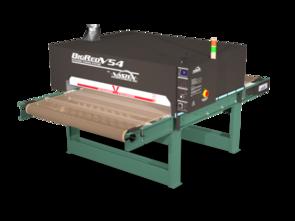 "Vastex BigRed V54 Infrared Conveyor Dryers 3Phase, 4x 7,200w heaters. 54"" Belt x 8.75' Long (137cm x 2.7m)"