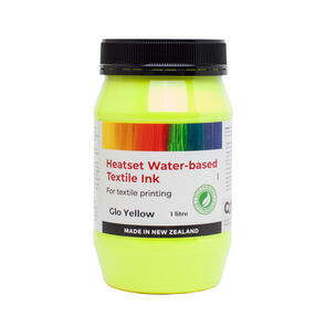 Heatset Water Based Textile Ink Glo Yellow