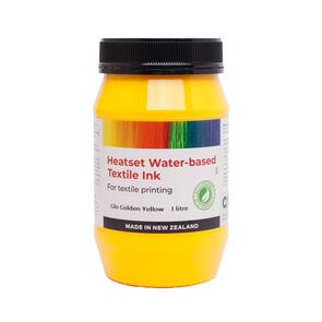 Heatset Water Based Textile Ink Glo Golden Yellow