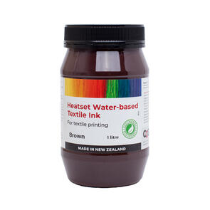 Heatset Water Based Textile Ink Brown