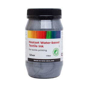 Heatset Water Based Textile Ink Metallic Silver