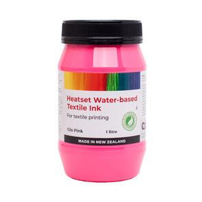 Heatset Water Based Textile Ink Glo Pink
