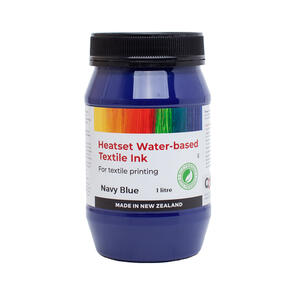 Heatset Water Based Textile Ink Navy Blue