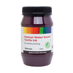 Heatset Water Based Textile Ink Maroon