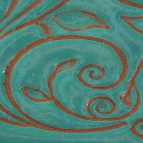 Amaco Opalescent O-21 Aquamarine Lowfire Brushable Glaze