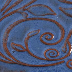 Amaco Opalescent O-23 Sapphire Blue Lowfire Brushable Glaze