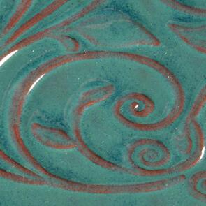 Amaco Opalescent O-26 Turquoise Lowfire Brushable Glaze