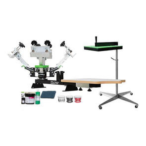 Ultimate 4-Colour Screen Printing Press, Flash Dryer & Supplies Kit