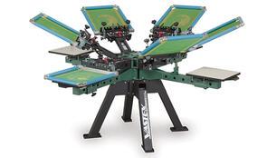 Vastex V-2000HD Industrial Screen Printing Press 4 Station 6 Color