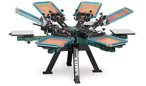 Vastex V-2000HD Industrial Screen Printing Press 6 Station 6 Color