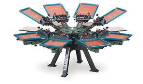 Vastex V-2000HD Industrial Screen Printing Press 8 Station 8 Color