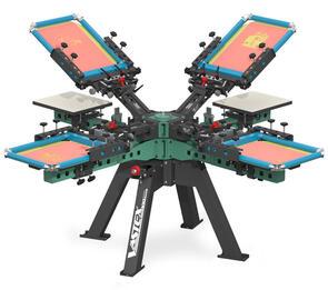 Vastex V-2000HD Industrial Screen Printing Press 4 Station 8 Color