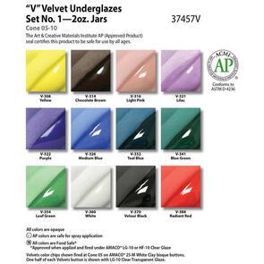 Amaco Velvet Underglaze Set #1 (12x 59ml)