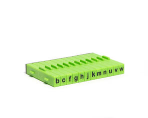 Xiem Tools Extra Letter Stamp Set 12 Pcs lower case