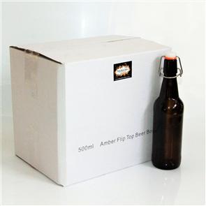 Glass Swing-Top Bottles 500ml x12