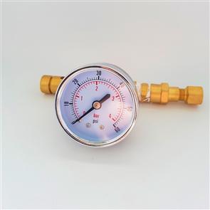 Adjustable Pressure Valve with Gauge