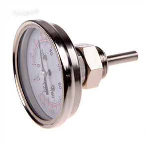 """Thermometer - Weldless 1/2"""" Stainless Steel"""
