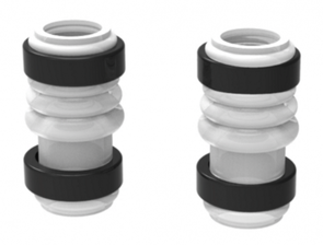 GF Top/Bottom Pump Silicone Tubes (2) with Fixing Rings