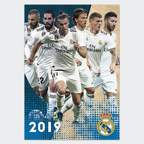 the latest 714ae d315a Real Madrid 2019 A3 Calendar | The Soccer Shop