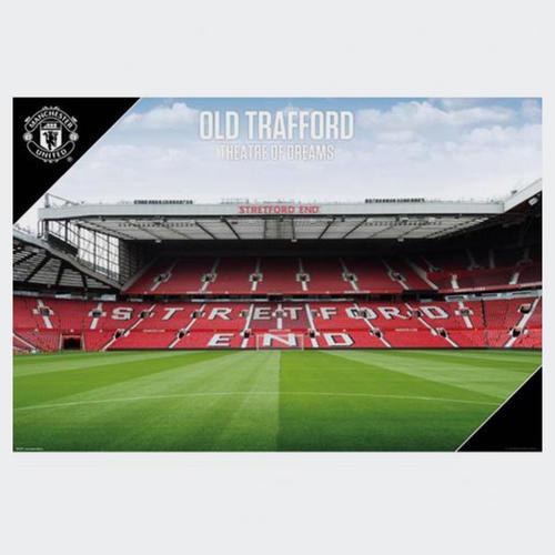 best website 80a60 8b28d Manchester United Stadium Poster   The Soccer Shop