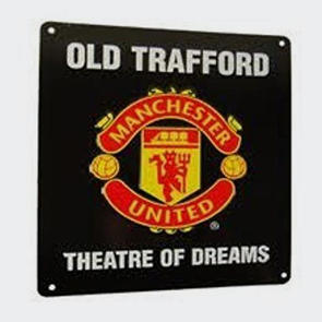 Manchester United Square Window Sign