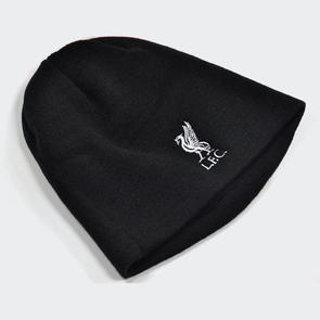Liverpool Mass Crest Knitted Beanie – Black