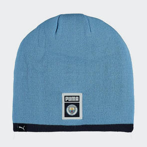 Puma Manchester City DNA Reversible Beanie - Light-Blue/Navy