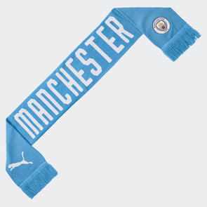 Puma Manchester City DNA FAN Scarf - Light Blue