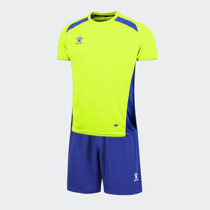 Kelme Academia Jersey & Short Set – Neon Green/Royal Blue