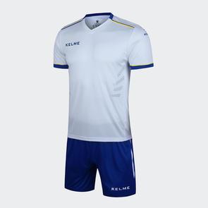 Kelme Moda Jersey & Short Set – White/Blue