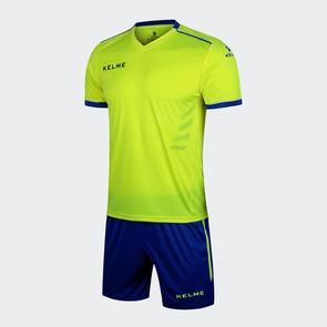 Kelme Moda Jersey & Short Set – Neon-Yellow/Blue