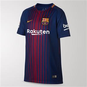 "Nike Junior 2017-18 Barcelona Home Shirt with ""Mini Messi"" print"