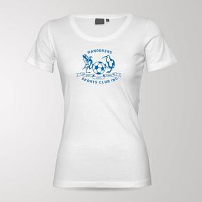 TSS Women's Hamilton Wanderers Blue Army Tee – White