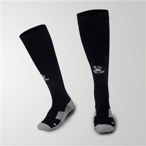 Kelme Equip Long Calf Football Sock – Black/White