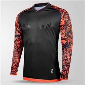 Kelme Guardameta Long Sleeve GK Jersey – Black/Neon-Orange