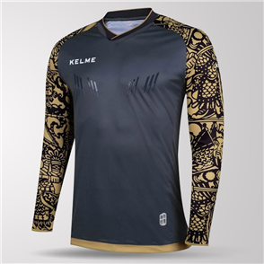 Kelme Guardameta Long Sleeve GK Jersey – Dark-Grey/Gold