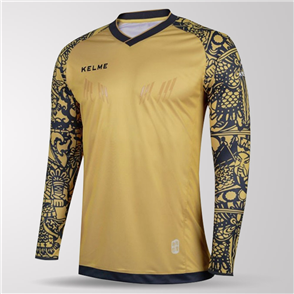 Kelme Guardameta Long Sleeve GK Jersey – Gold/Black