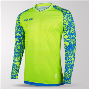 Kelme Guardameta Long Sleeve GK Jersey – Neon-Yellow/Blue