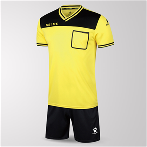 Kelme Arbitro Short Sleeve Referee Set – Yellow/Black