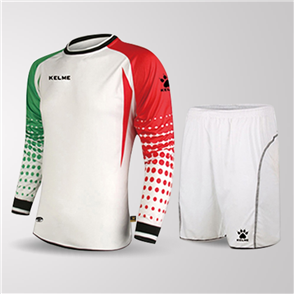 Kelme Salva Long Sleeve GK Set – White/Red/Green